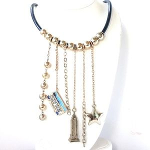 New York Charm Rubber Necklace